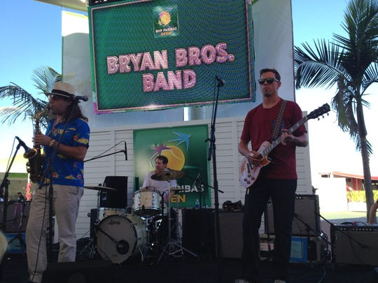 The Bryan Bros. Band performed Thursday at the Indian Wells Tennis Garden.