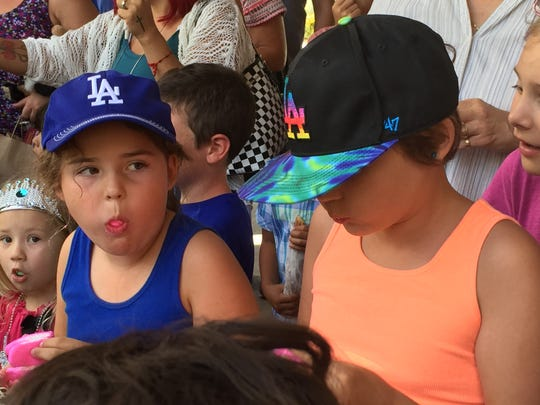 Kids stuffed their faces with marshmallow treats at the Living Desert's Peep Eating Contest on Saturday.