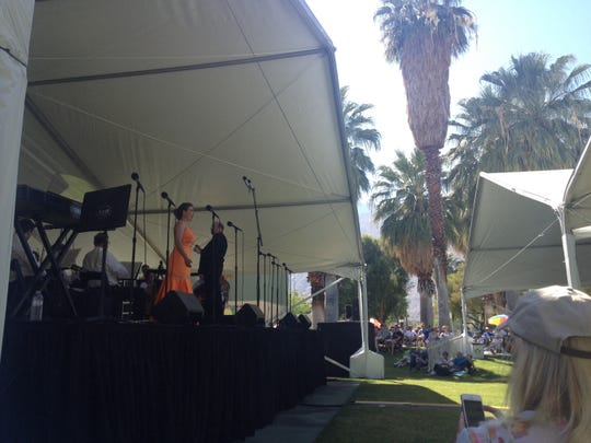 Opera in the Park returns Sunday to Sunrise Park in Palm Springs. Soprano Anna-Lisa Hackett is seen performing at the 2015 Opera in the Park.