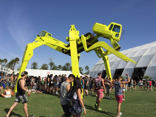 """Earth Mover"" by Christian Ristow at the Coachella Music and Arts Festival in Indio on Friday, April 10, 2015."