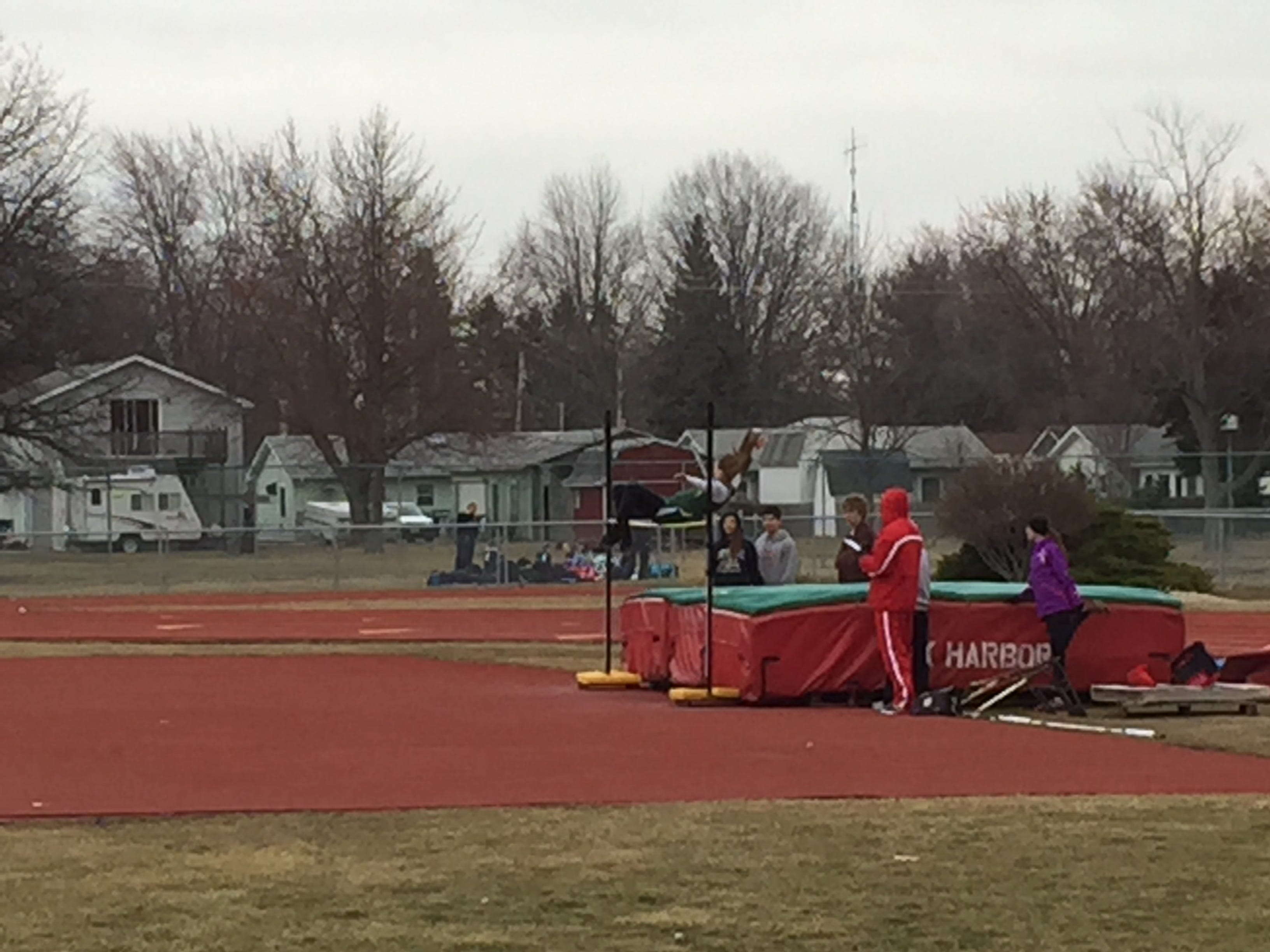 Oak Harbor's Andrea Cecil won the high jump Tuesday against Lake and Elmwood.