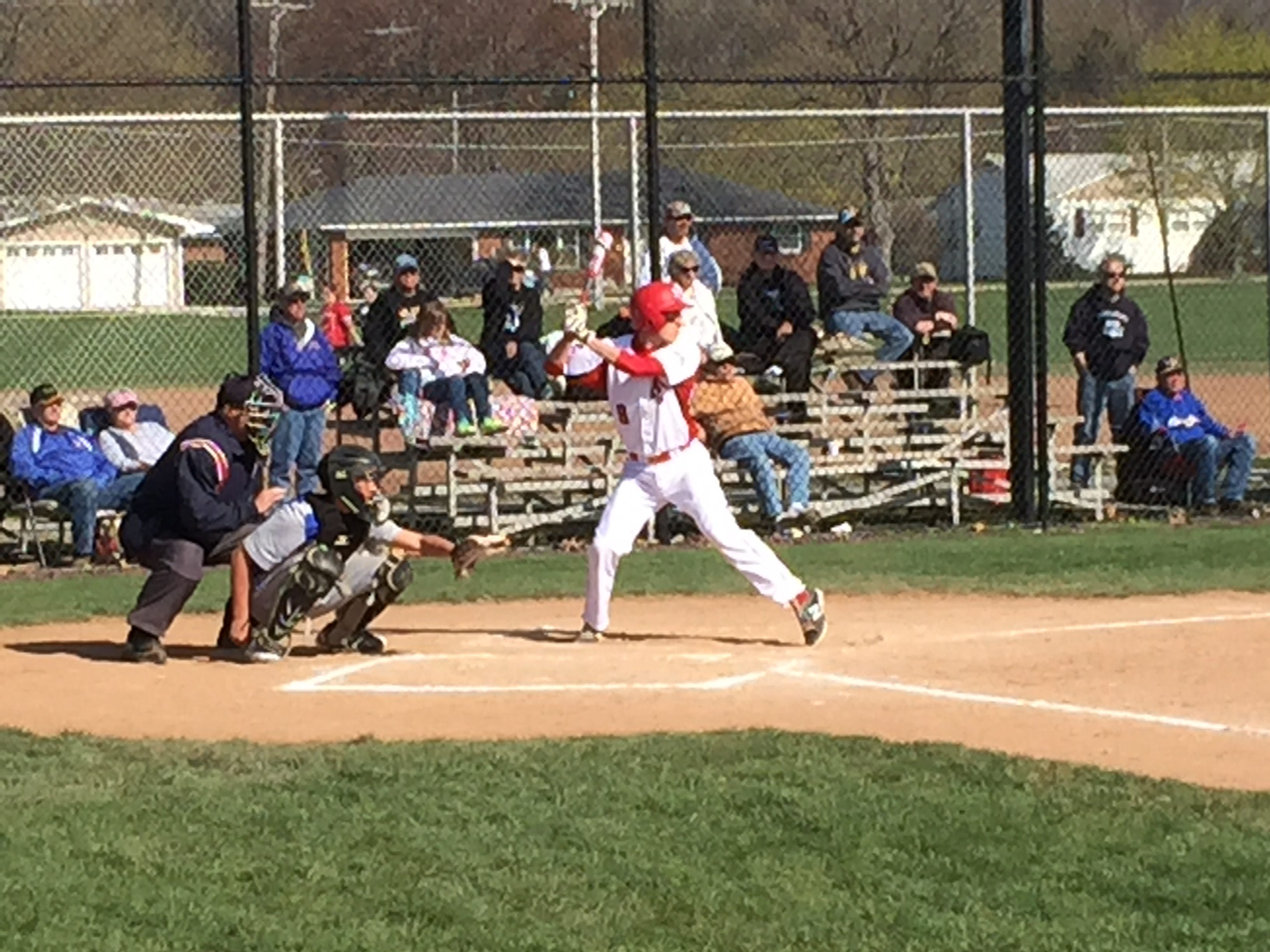 Port Clinton's Seth Monk waits on a pitch Friday against Clyde.