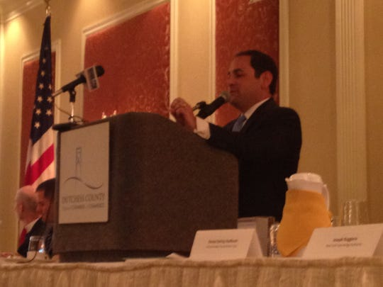 File photo of Joseph Ruggiero speaking to the Dutchess County Regional Chamber of Commerce.