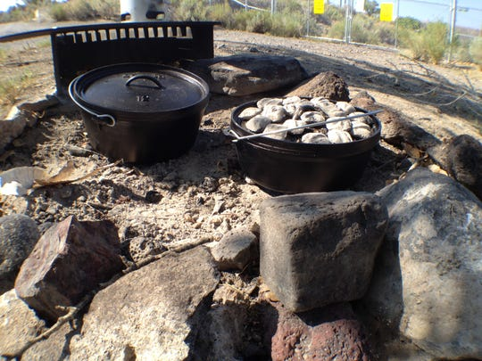 Dutch oven cooking is a popular style in Nevada and Utah. It's easy to do at campsites and doesn't require as much fire as grilling because cooks use hot coals to bake food in cast iron pots.