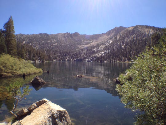 Star Lake near Lake Tahoe is a great reward for people hiking or biking the 15-mile loop made possible by the new U.S. Forest Service Monument Pass trail.