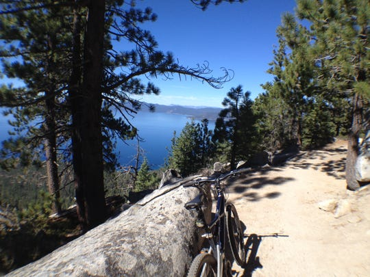 The Flume Trail near Incline Village is a flat, smooth ride overlooking Lake Tahoe.