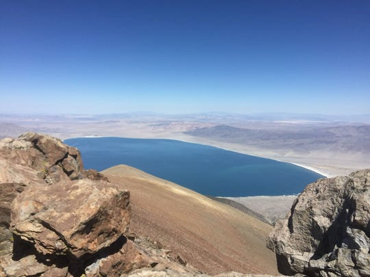 The view of Walker Lake from nearly 11,300 feet at the top of Mt. Grant in Mineral County.