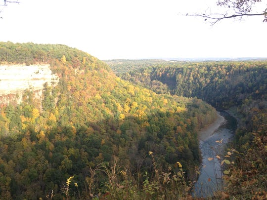 The gorge at Letchworth State Park. A 14-year-old boy died Friday after falling 200 feet into the gorge after leaving a park trail.