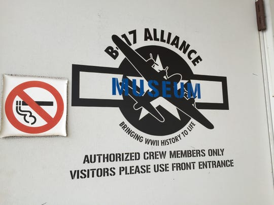 The B-17 Alliance Museum, which will celebrate its grand opening on June 13, is housed in a hangar at Salem Municipal Airport. The group's logo is on the hangar door.