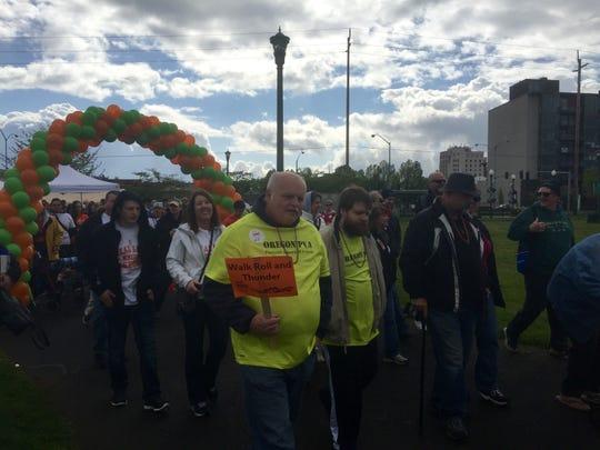 Around 500 people walked in Salem's multiple sclerosis walk Saturday, April 11.