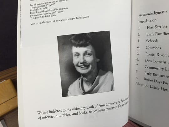 """The new book """"Images of America: Keizer"""" is dedicated to historical researcher and author Ann Lossner, who died April 18. She was 101."""