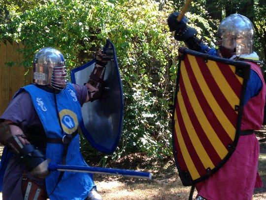 """Performers in the """"Swords of Chivalry"""" re-enactment delighted visitors at the 25th annual Celtic Festival at Furnace Town Oct. 4"""