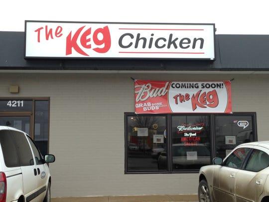 The Keg chicken restaurant at 4211 W. 12th St. in Sioux Falls, South Dakota.