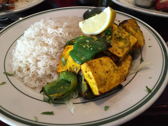 Kate Kompas had the paneer tikka. The paneer pieces