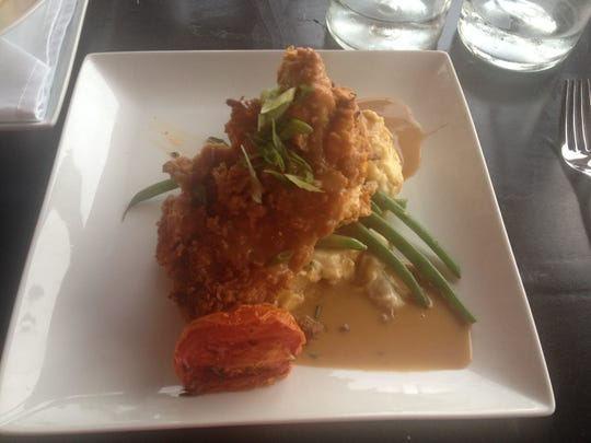 Chicken fried chicken on a bed of mashed potatoes at Cliffside Restaurant in St. George.