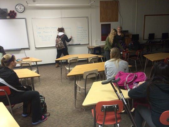 Members of the Key Club met Wednesday at Stevens Point Area Senior High.