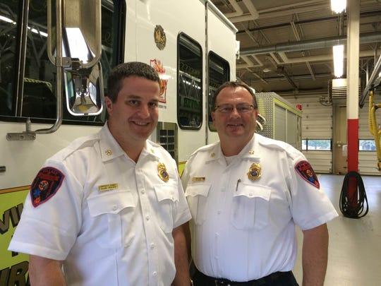 Mark Deaver (left).