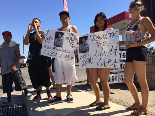 Family and friends gathered Wednesday in Farmersville to raise money for the funeral for a mother of three who was found Monday in her car submerged in the Friant-Kern Canal.
