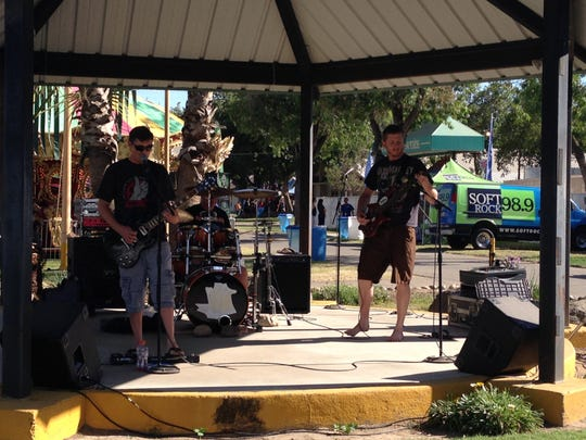 """Visalia rock group """"Westhoward"""" performs at the Kings County Fair. The group will play at the Tulare County Fair."""