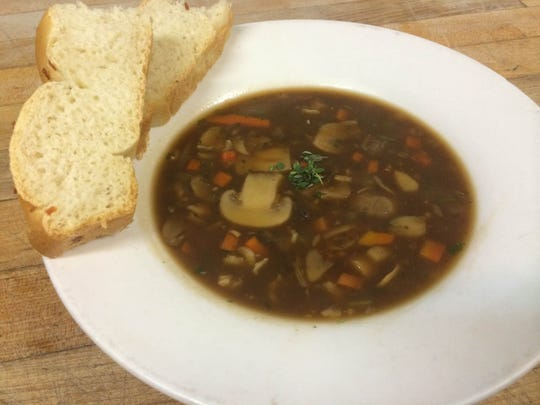 Pictured is Cafe 225's Mushroom with Wild Rice Soup, which was Monday's soup of the day. The Downtown Visalia restaurant daily offers Minestrone Soup and a soup of the day.