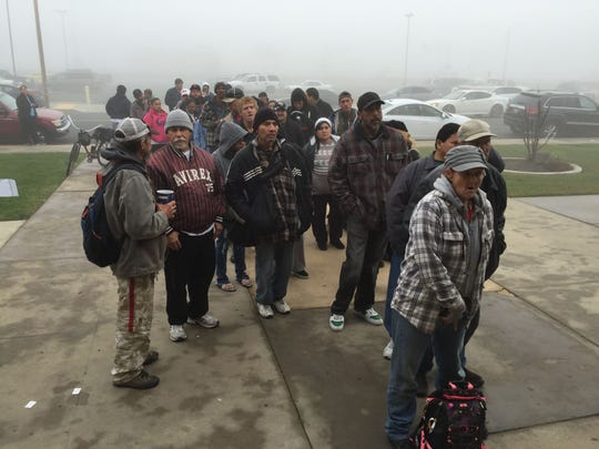 Dozens of volunteers in Visalia, Tulare, Porterville and Hanford spent Thursday surveying homeless and connecting the men, women and children with service throughout Tulare and Kings counties.