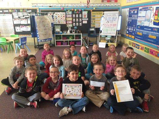 Rothschild Elementary kindergarten students display