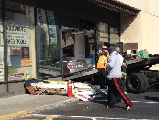White Plains Mall storefront crash