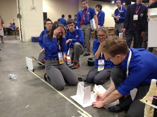 """A team of Delaware high school students compete in the """"technological problem solving"""" event at the National Technology Association conference. Delaware brought home 17 top-10 awards and four first-place awards."""