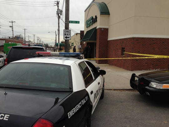 Wilmington police responded to a bank robbery at Third and Union streets Thursday afternoon.