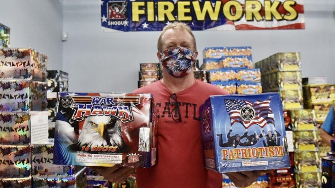 Kenneth Vincent, owner of Hilltop Fireworks in Somersworth, says business has been busy with local July 4 fireworks displays canceled.