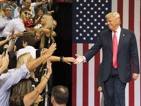 GOP Presidential Nominee Donald Trump Holds Rally In Jacksonville, Florida