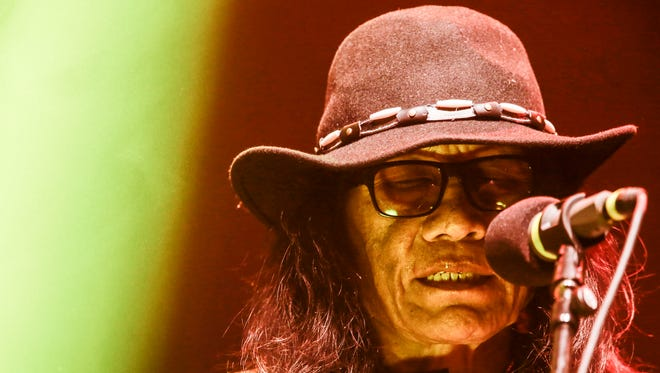 Sixto Rodriguez performs on Tuesday, May 13, 2014, at Detroit's Masonic Temple.