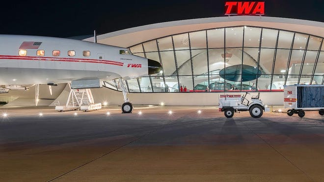 Carl Crumley captures recent renovations at the TWA Flight Center at John F. Kennedy International Airport.