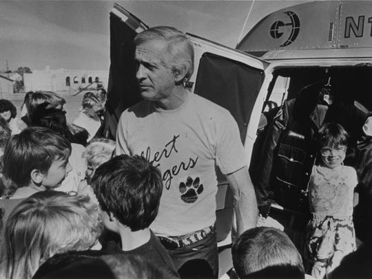 Jerry Foster, a news pilot for Channel 12, was popular