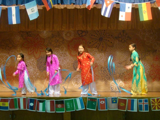 International dances were featured at the fourth annual