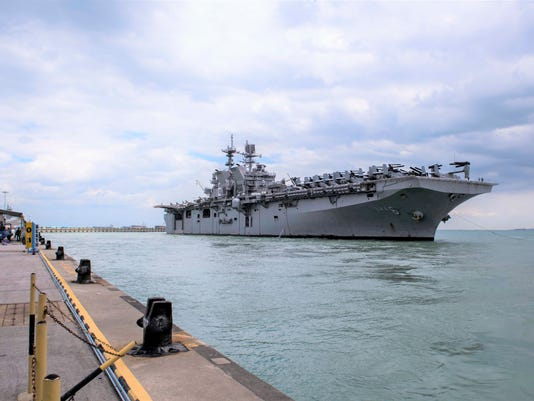 USS America arrives in Singapore