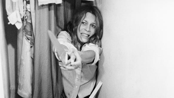 Laurie (Jamie Lee Curtis) tries to survive a horrifying