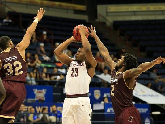 NCAA Basketball 2016: Sunbelt Conference Championship Little Rock Trojans vs UL Monroe Warhawks MAR 13