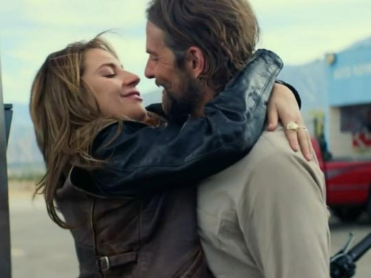 "Lady Gaga and Bradley Cooper, right, make magic in ""A Star is Born."""