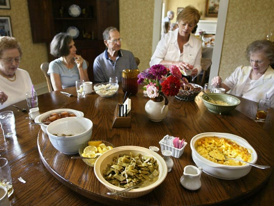 The family-style meals at Miss Mary Bobo's restaurant