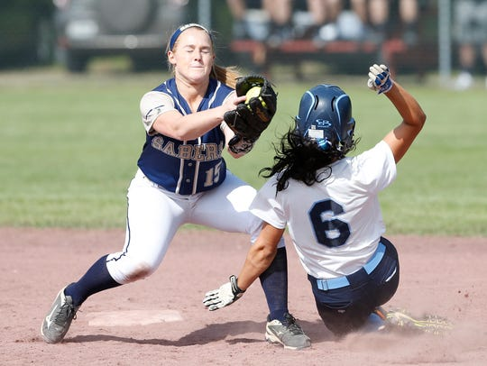 Susquehanna Valley's Madison Tuttle covers second base
