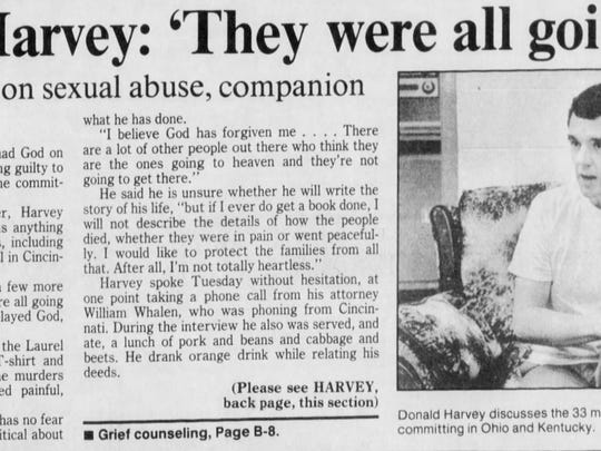 Nov. 4, 1987 Enquirer article about Donald Harvey's