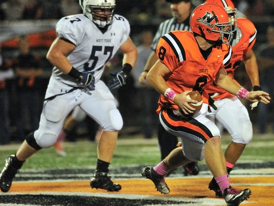 West York's Brody Kern (57) was one of eight District 3 players selected to participate in the Big 33 Football Classic at Hersheypark Stadium in June. (Daily Record/Sunday News -- File)