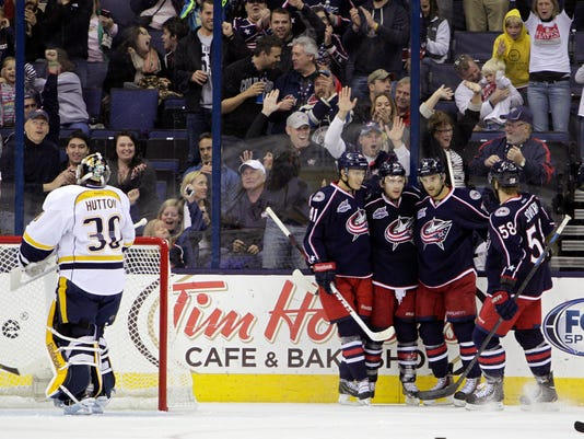 Predators Blue Jackets Hockey (2)