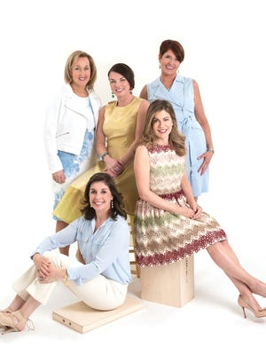 (Clockwise) Jo Ann Romano, Lynn Mayer, Jennifer Zimmer, Katherine Montgomery and Donna Kearns.On Friday, Mar. 17, 2017 five local mothers of five gather to have the individual and group photos taken for the May'17 issue of (201) Magazine. Hair and make-up by Adora Bella Salon, Franklin Lakes.