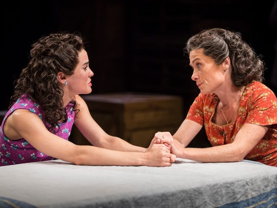 """Melisa Pereyra (left) and Colleen Madden share a scene in """"A View From the Bridge,"""" performed by American Players Theatre in Spring Green."""