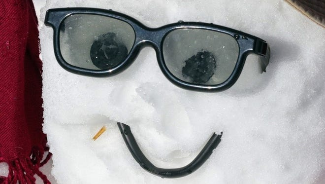 This guy always seems happy, because he never worries about his drink being warm.