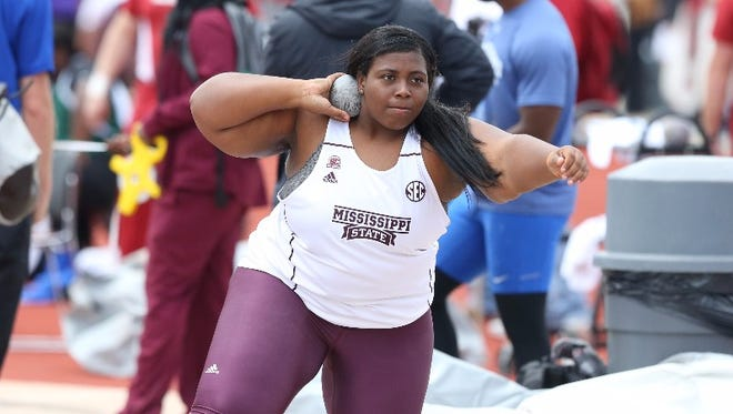 Mississippi State freshman and West Oso grad Chardae Tryon finished third at the Mississippi State Bulldog Relays in her college outdoor debut on March 17.