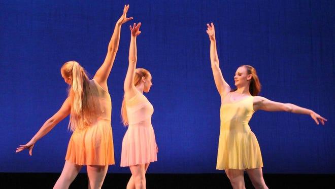 """Ballet Vero Beach dancers in Samuel Kurkjian's """"Debussy Suite."""""""