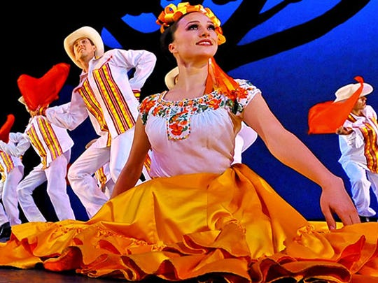 Ballet Folklórico de México de Amalia Hernández will perform traditional dances of folk (and indigenous) culture when they bring their touring show to Mesa Arts Center Oct. 23.